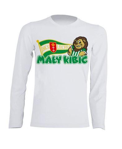 Obrazek Koszulka dziecięca longsleeve Mały Kibic biała