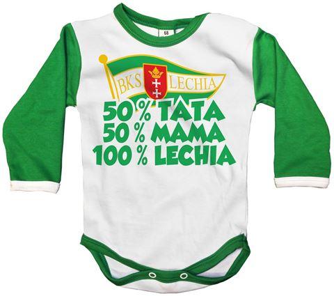 """Obrazek Body dziecięce Lechii """"100% Lechia"""""""