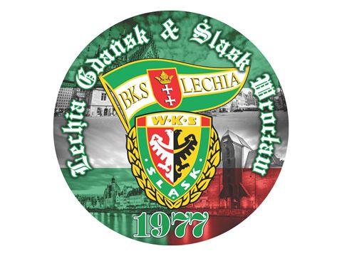 Obrazek Wlepka vlepka Lechia&Śląsk ⌀25