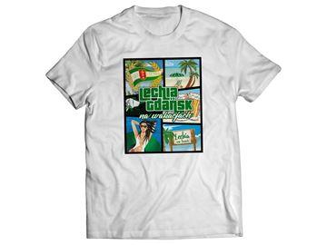 Obrazek Koszulka wakacje biała damska