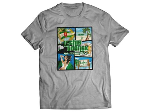 Obrazek Koszulka wakacje szara damska