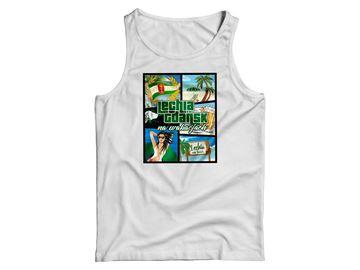 Obrazek Koszulka na ramiączkach wakacje biała damska