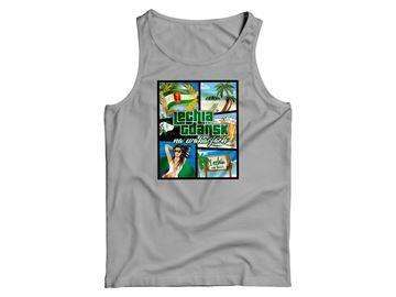 Obrazek Koszulka na ramiączkach wakacje szara damska