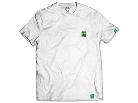 Obrazek Koszulka Klasyk Herb gumka biała damska