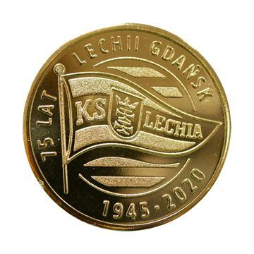 Obrazek Moneta - 11 Guldenów Gdańskich 75 lat Lechii Gdańsk 1945-2020