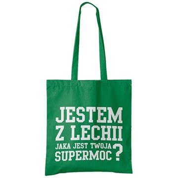 """Obrazek Torba bawełniana zielona  """"Supermoc"""""""