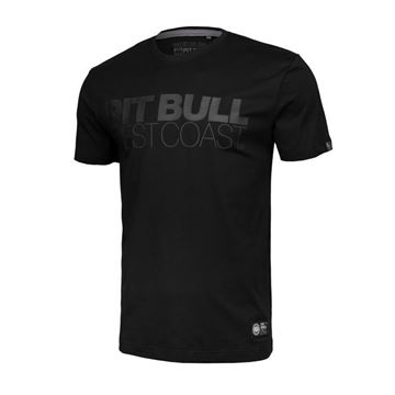 Obrazek Koszulka Pit Bull czarna z czarnym