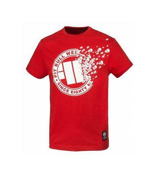 Obrazek Koszulka Pit Bull Skuller czerwona