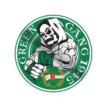 Obrazek Naklejka ścienna Green Gang 65 cm